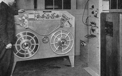 The Marconi-Stille magnetic recorder-reproducer.